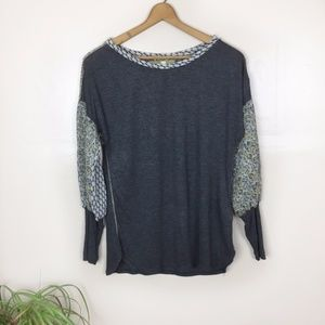 [TINY] by Anthropologie Gray Long Sleeve Top